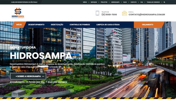 Site da Hidrosampa na primeira página do Google
