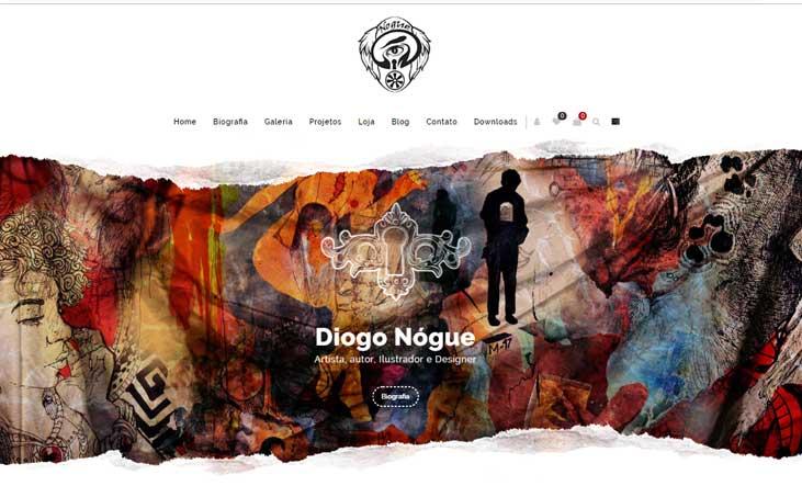 Agência Next Step cria novo site do Diogo Nógue
