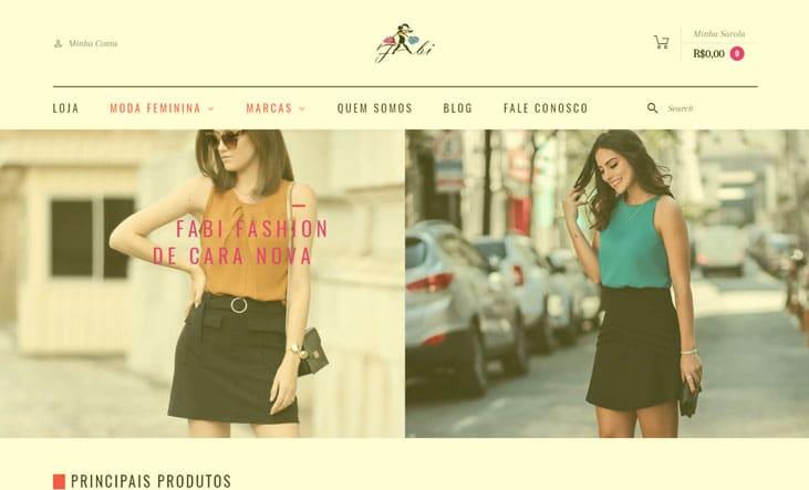 Criamos o novo site da Fabi Fashion Boutique