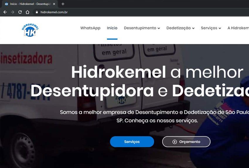 Criamos o site da Hidrokemel - Agência Next Step