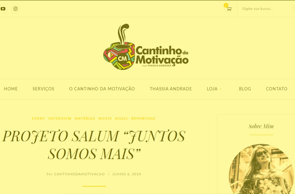 Criamos o site Cantinho da Motivação - Agência Next Step