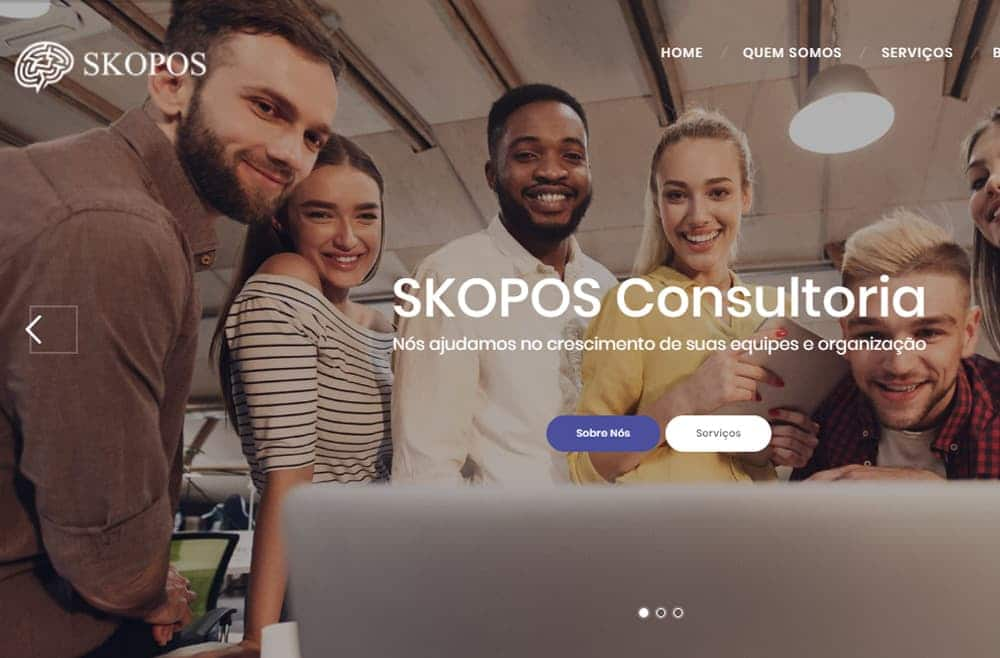 Criamos o site da Skopos Consultoria e Treinamentos - Agência Next Setep - Ter um site é só o primeiro passo.