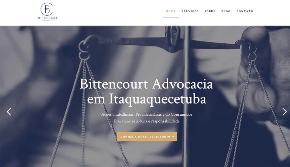 Criamos o site da Bittencourt Advocacia - Agência Next Step - Criação de Sites e Consultoria SEO
