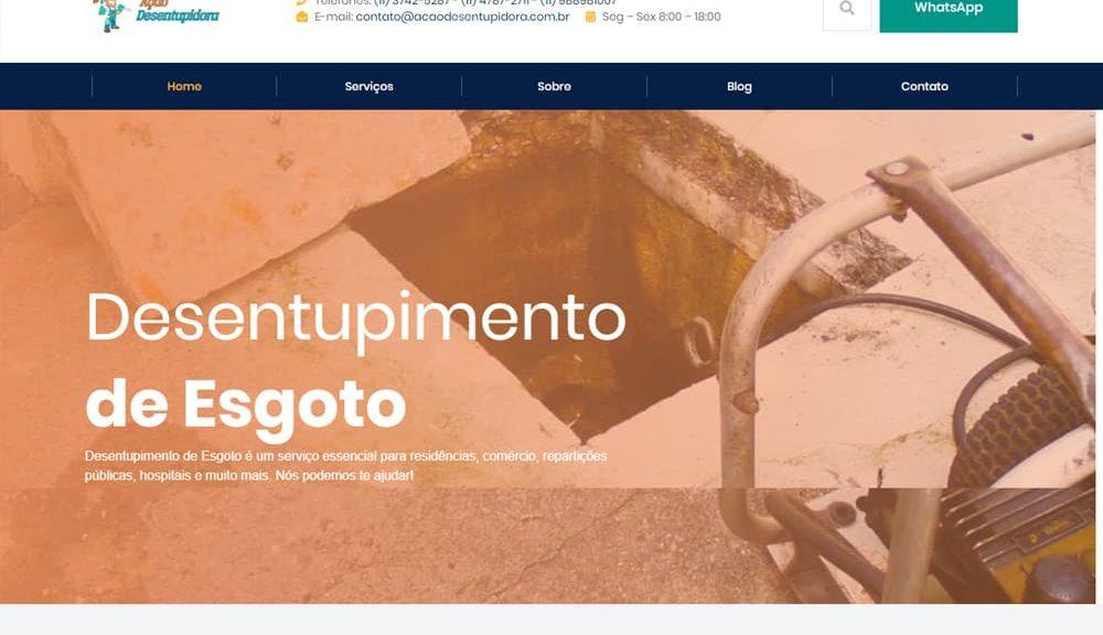 Criamos o site da Ação Desentupidora - Agência Next Step