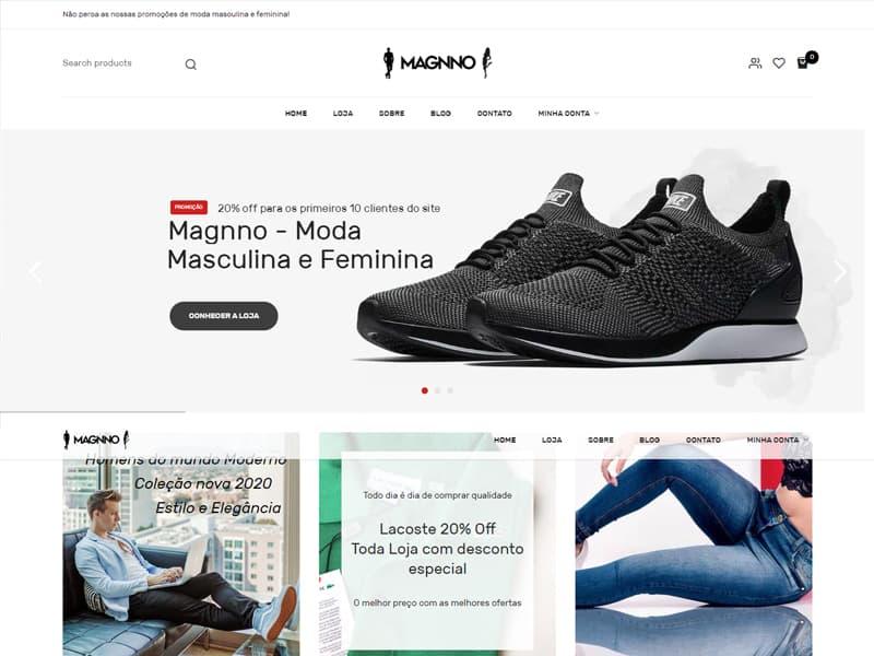 Site Magnno Store - Agência Next Step - Criação de Sites, Consultoria SEO e Hospedagem de Sites em Suzano - SP