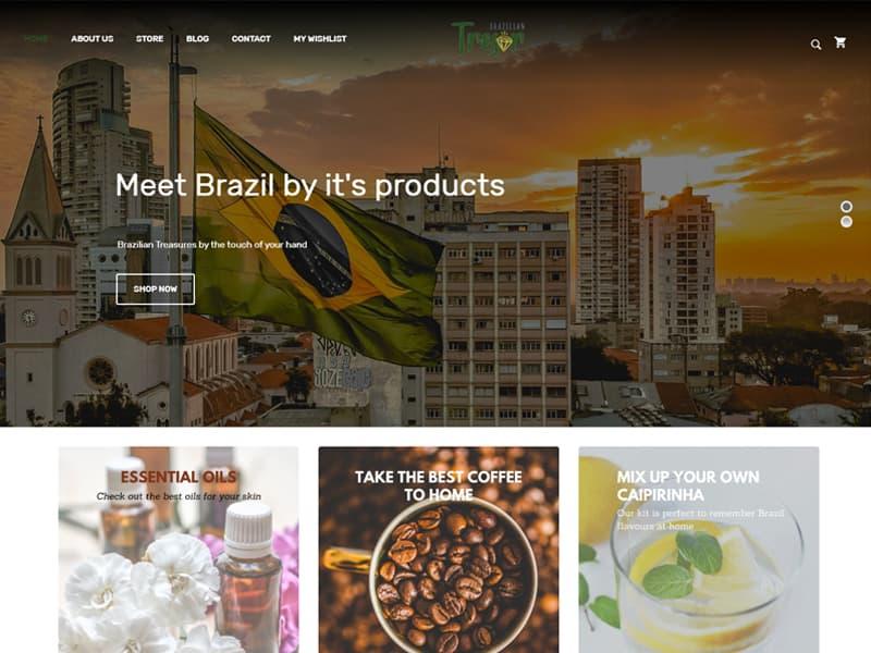 Site Brazilian Tresor - Agência Next Step