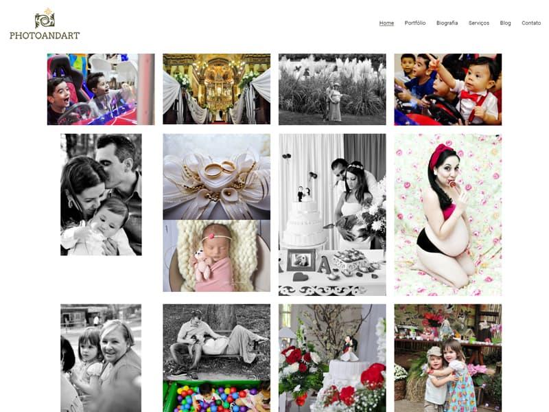 Site Photo and Art Fotografia - Agência Next Step - Criação de Sites, Consultoria SEO e Hospedagem de Sites em Suzano - SP