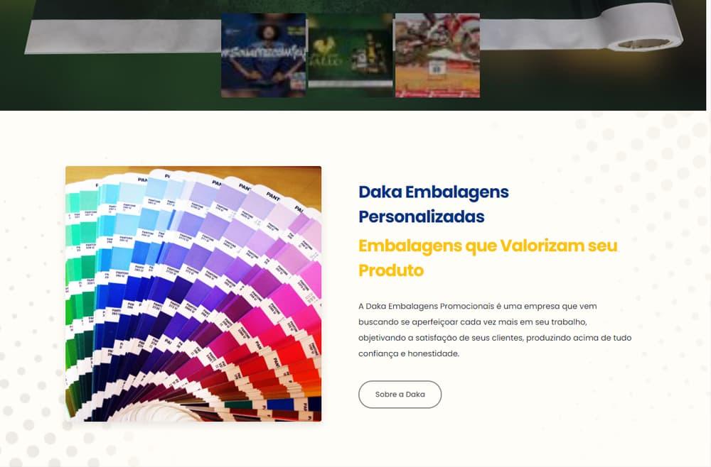 Criamos o site Daka Embalagens - Agência Next Step - Criação de Sites, Consultoria SEO e Hospedagem de Sites em Suzano - SP