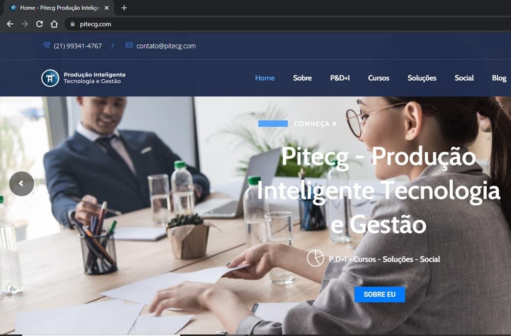 Criamos o site da Pitecg - Agência Next Step - Criação e Otimização de Sites